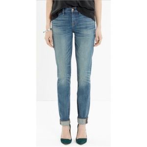 Madewell Alley Straight Cuffed Faded Blue Jeans